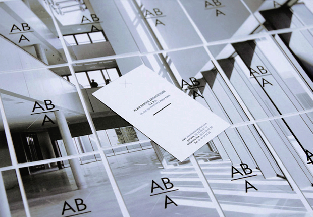 Aba is a young architecture agency looking to promote its works, in which light and technical know how are central. We thus designed the identity playing with transparency, & putting photographies forward by playing with textures (tracing paper, transparent paper). The logo, in balance, represents an equation. A cross is watermarks stands behing it, reminiscent of construction plans' vocabulary.